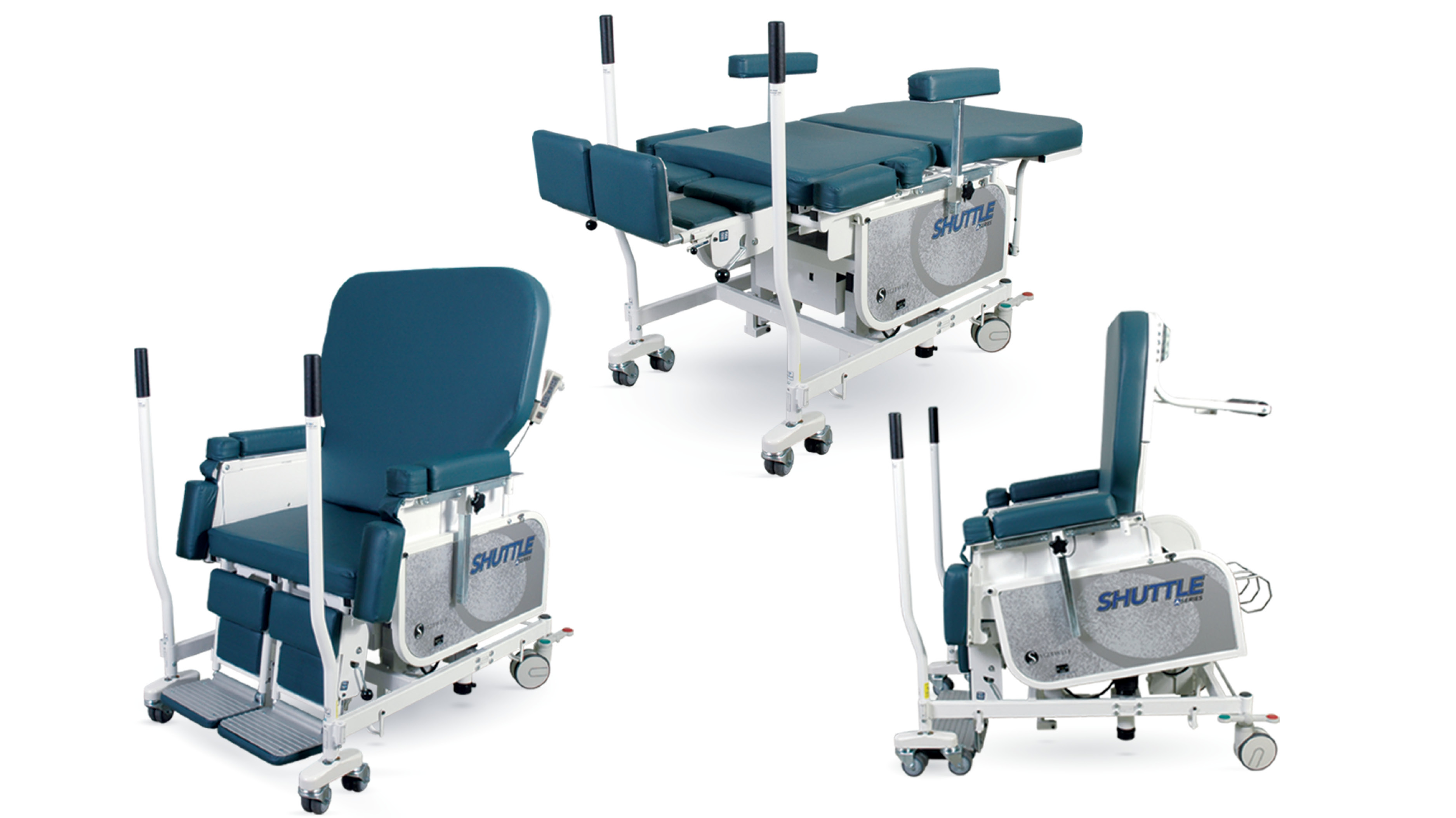 Shuttle A Series Advanced In Chair, Stretcher, and Stand-Assist Positions