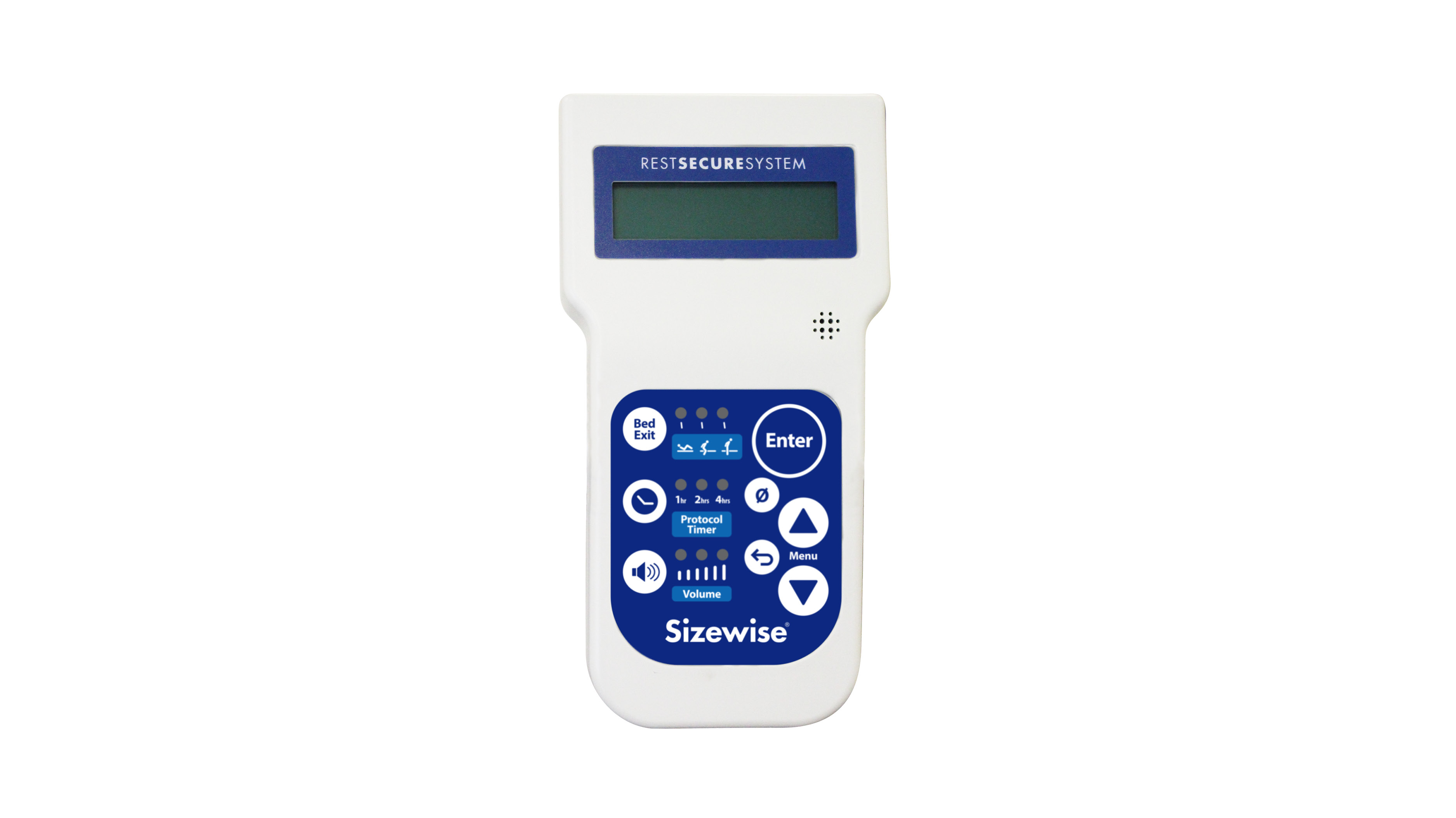 Rest Secure System 3™ includes bed exit alarm, protocol timer, and scale