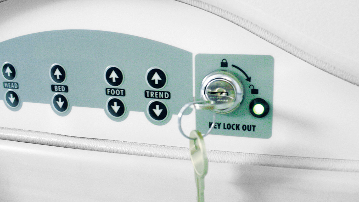 Footboard lockout controls