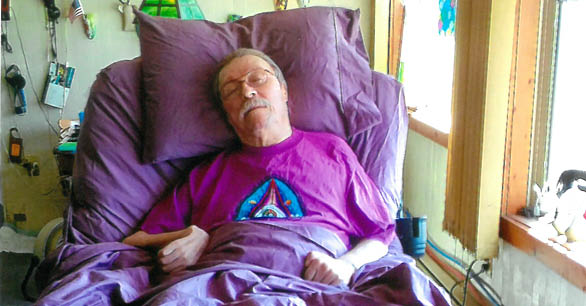 MS Patient Stephen On Sizewise Rotate Air Mattress